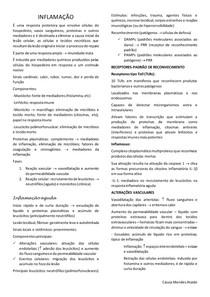 INFLAMAÇÃO - Fisiopatologia