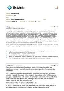 AV 1 - Analise Textual 2015.1