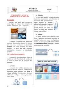 Apostila 1 - Introdução à Química_Constituição da Matéria