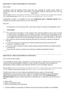 APOL DE EDUCAÇÃO ESPECIAL E INCLUSIVA