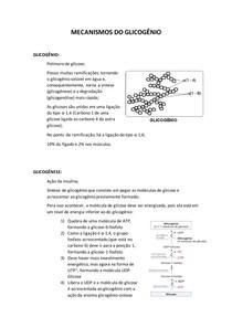 MECANISMOS DO GLICOGÊNIO