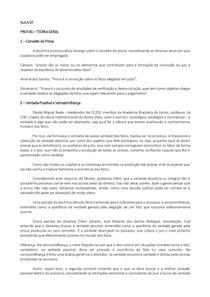 PROCESSO CIVIL II   PROVAS – TEORIA GERAL