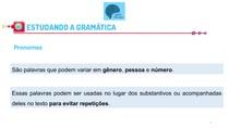 Pronomes - gramática