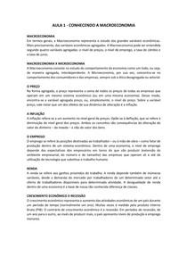 RESUMO - ANÁLISE MACROECONÔMICA (aulas 1 à 14)