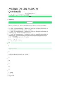 Avaliação OnLINE(2)-TOPICOS AVANÇADOS