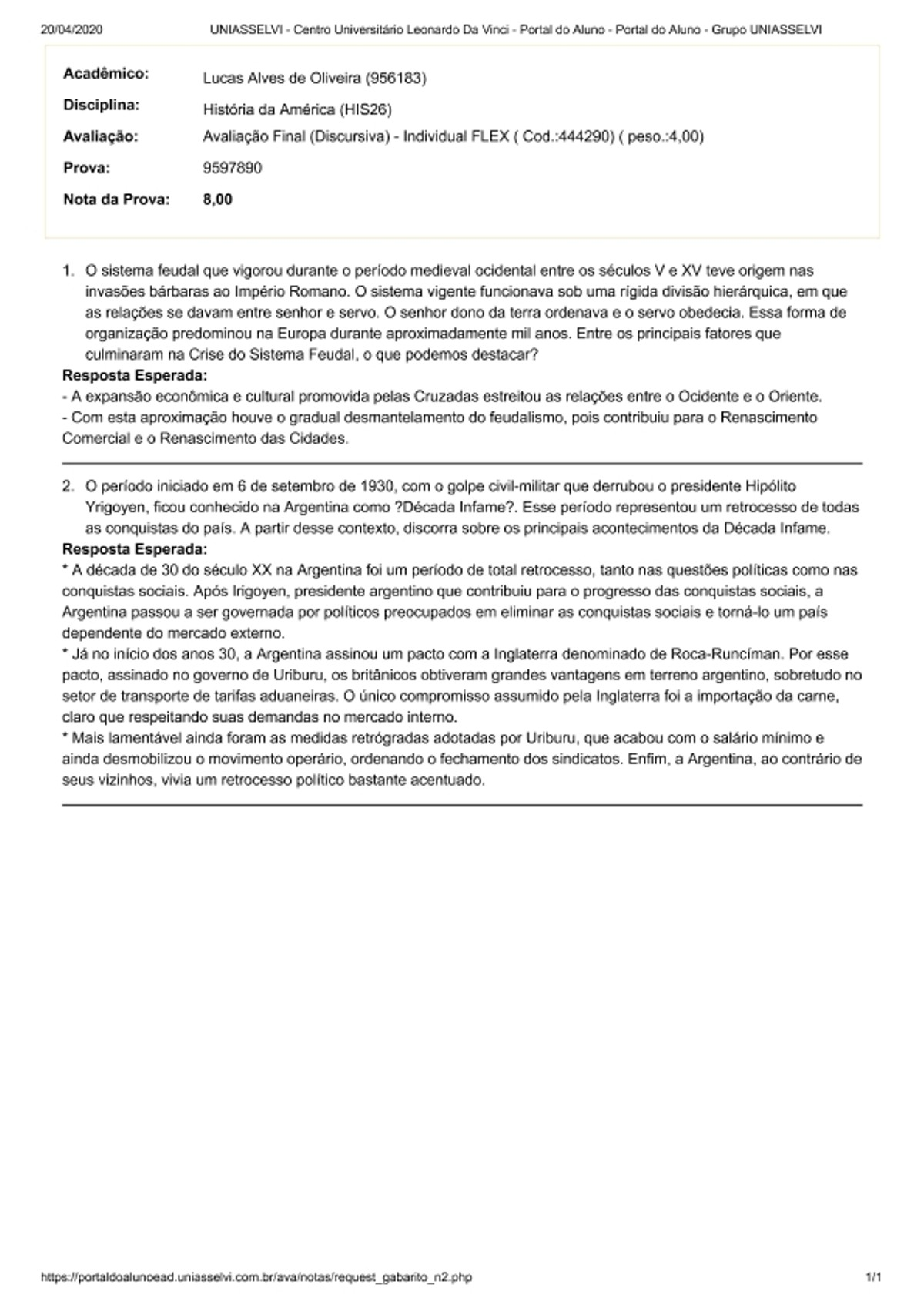 Pre-visualização do material Avaliação Final (Discursiva) - Individual FLEX - página 1