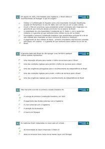 Formação Sócio-Econômica e Política da Sociedade Brasileira Questões Av