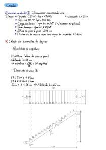 Exercícios_Escada (Dimensionamento e Detalhamento)