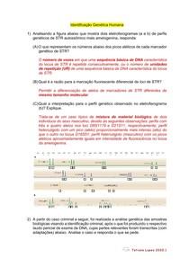 Questões Identificação Genética Humana ED2