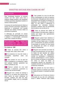 Direitos sociais nos casos de HIV