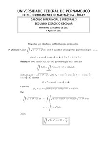 Segundo Exercício + Gabarito 2013.1