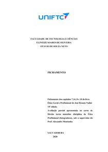 FICHAMENTO ETICA 01