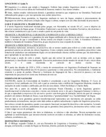 Linguística - Aula 3