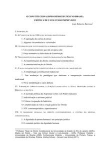 O constitucionalismo democratico no Brasil