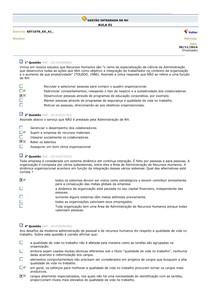GESTÃO INTEGRADA DE RH avaliando o aprendizado aulas 01 a 10 - - 2 d64075d223