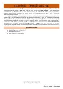 Caso clínico - Obstrução intestinal