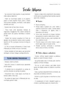 Tecido Adiposo (Cap. 6 - Junqueira e Carneiro 13ª ed.)
