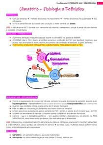 CLIMATÉRIO - Fisiologia e Definições