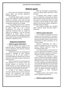 Abdome agudo - diagnóstoco sindrômico e exames