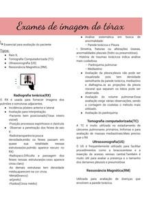 Exames de imagem do tórax