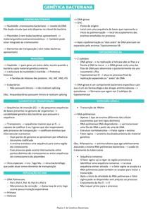 Genética Bacteriana - Microbiologia