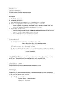 DIREITO PENAL II - CONCURSO DE PESSOAS, REGIMES, ESPÉCIES DE PENA