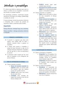 Introdução à parasitologia (classificações do parasito e hospedeiro)