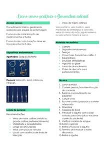 Acesso venoso periférico e Gasometria arterial