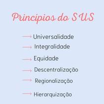Princípios básicos do SUS