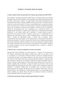 Atividade 4 - Teoria Sócio- história de Vygotsky - Documentos Google