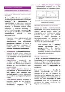 Resumo - Exames Laboratoriais Usados em Reumatologia