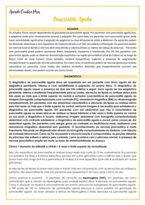 Pancreatite Aguda - quadro clínico, diagnóstico e tratamento
