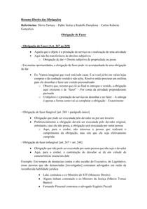 Material de Apoio 05 - Modalidade das Obrigações [Obrigação de Fazer]