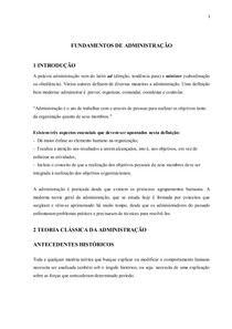 MÓDULO  DE FUNDAMENTOS DE ADMINISTRAÇÃO