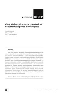 Texto 5 FACCENDA et al   Capacidade explicativa de questionarios de contexto (1)