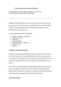 7 Itens Basicos De Um Bom Briefing Design De Interiores