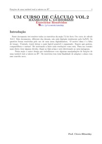 RESOLUÇÕES DE EXERCÍCIOS SEÇÃO 7.3  - LIVRO UM CURSO DE CALCULO VOL 2- HAMILTOM GUIDORRIZI