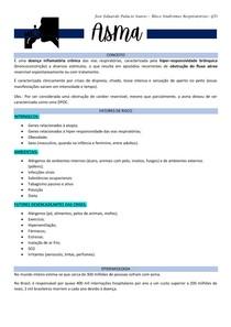 Asma (inclui: conceito, fatores de risco, epidemiologia, classificação, fisiopatologia, manifestações clínicas, diagnóstico e tratamento)
