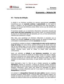 Economia - 06 - Teorias da Inflação