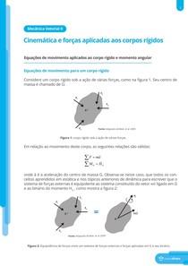Equações de movimento aplicados ao corpo rígido, momento angular e princípio de D'Alembert - Resumo