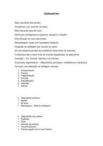 Osteoartrite resumo