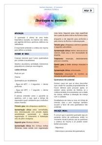 CIRURGIA - ABORDAGEM AO QUEIMADO