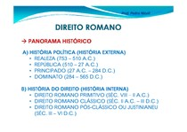Slides Direito Romano 1