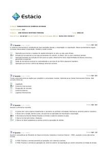 Fundamentos de Comércio Exterior - AV1 - 2013