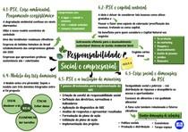 Mapa mental da sexta aula de Responsabilidade Social e Empresarial
