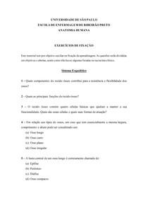 Exercícios de Fixação - Sistema esquelético