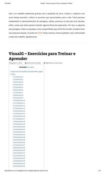 VisualG – 40 Exercícios para Treinar e Aprender