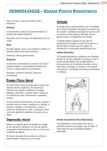SEMIOLOGIA - Exame Físico Pediátrico