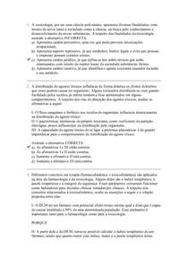 AVALIAÇÃO 2 FARMACOLOGIA UNIASSELVI