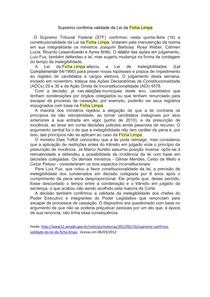 Sociologia J. J. - Texto Ficha Limpa